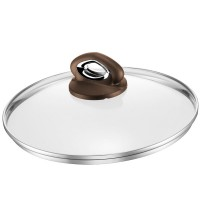 Capac sticla Bialetti Ceramic Brown Inductie, 20 cm